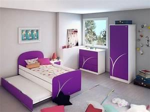 Couche Pour Ado Fille : chambre fille ado violette chambre de fille ~ Preciouscoupons.com Idées de Décoration