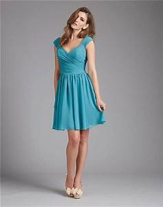a line v neck short teal blue chiffon ruched wedding guest With teal dresses for wedding guest