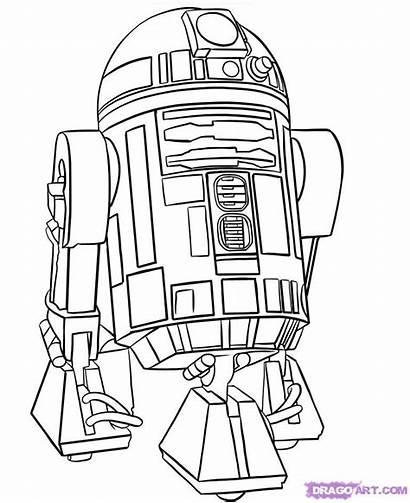 Draw Wars Star Characters D2 Step R2