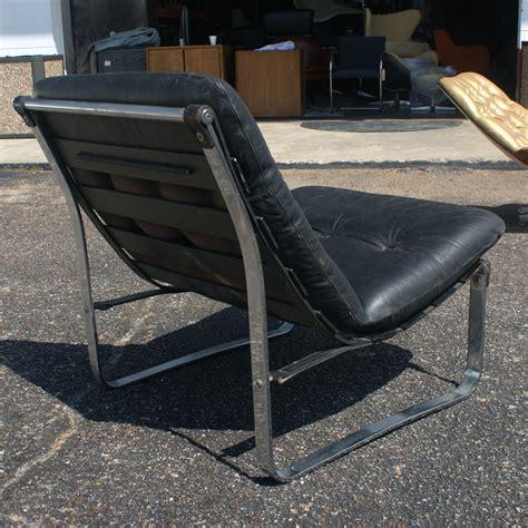 metro retro furniture vintage leather chrome lounge