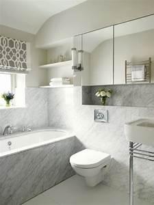 Salle De Bain Marbre Blanc : 101 photos de salle de bains moderne qui vous inspireront ~ Nature-et-papiers.com Idées de Décoration