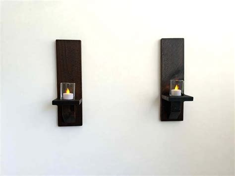 wood candle wall sconces buy a made rustic wood wall sconces candle sconces