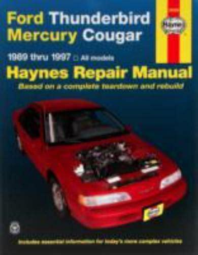 car repair manual download 1986 ford thunderbird free book repair manuals ford thunderbird mercury cougar auto repair manual bk 1563923114 ebay