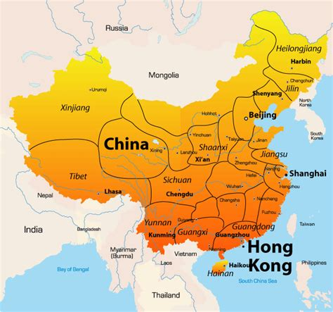 hong kong map showing attractions accommodation