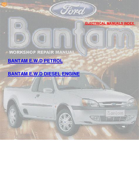 ford bantam  wiring diagrams service manual