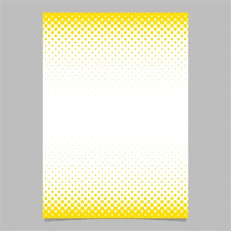 Background Brochure Templates by Abstract Halftone Circle Pattern Page Brochure Template
