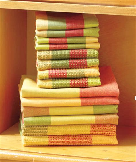 colorful kitchen towels 14 pc woven kitchen towel set dish cloths cleaning 2355