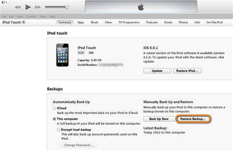 restore iphone from itunes i hooked up my iphone to itunes to get updates which i