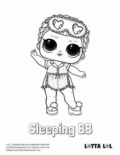 Lol Coloring Pages Sleeping Bb Surprise Colouring