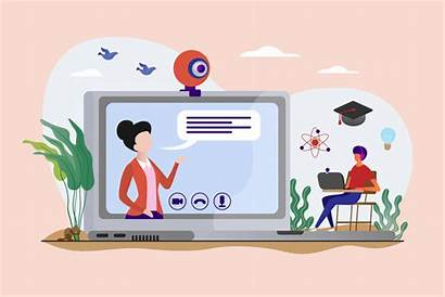 Virtual Learning Classroom Distance Classes Classrooms Stops
