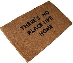 theres no place like home doormat there s no place like home large coir door mat 70 x 40cm