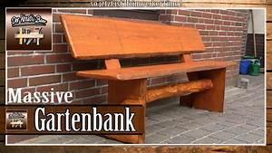 Gartenbank Selber Bauen : massive gartenbank aus holz selber bauen selber machen youtube ~ Orissabook.com Haus und Dekorationen