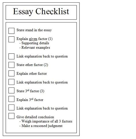 Resume Checklist For College Students by Resume Exles Templates Essay Writing Checklist High School Students Revising Checklist For