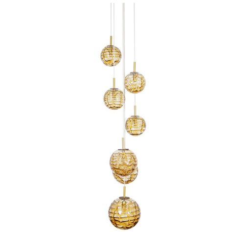vintage glass globes chandelier by doria for sale at
