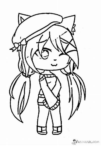 Gacha Coloring Anime Dibujos Printable Colorear Kawaii