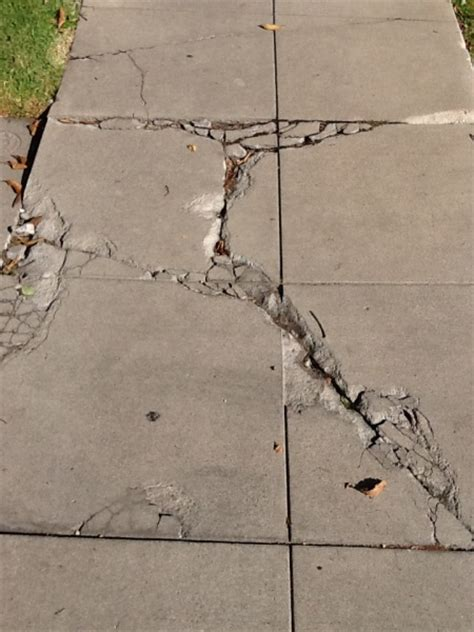 broken lifted  cracked sidewalks   hazard la