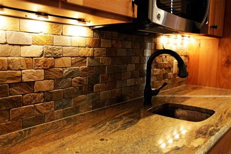 cm fantastic brown granite waterfall edge undermount