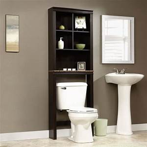 Over, The, Toilet, Storage, Bathroom, Space, Saver, Cubby, Adjustable, Shelves, Wood, Paper