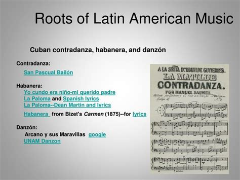 Ppt  Roots Of Latin American Music Powerpoint