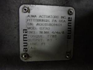 Auma Sa14 5  Gz30 Electric Valve Actuator