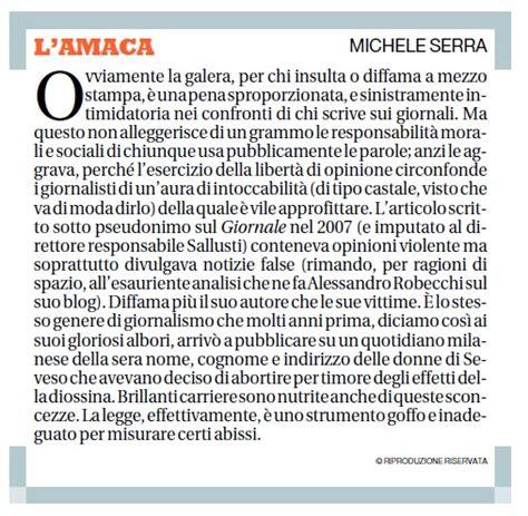 Amaca Di Serra by Alessandro Robecchi Il Sito Ufficiale 187 Caso Sallusti