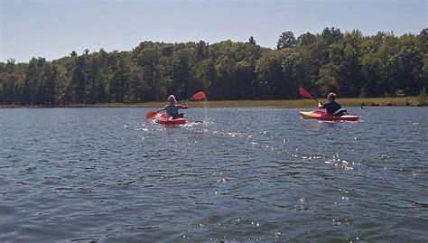 Hamlin Lake Boat Launch by Ludington State Park Canoe Trail Day Trip