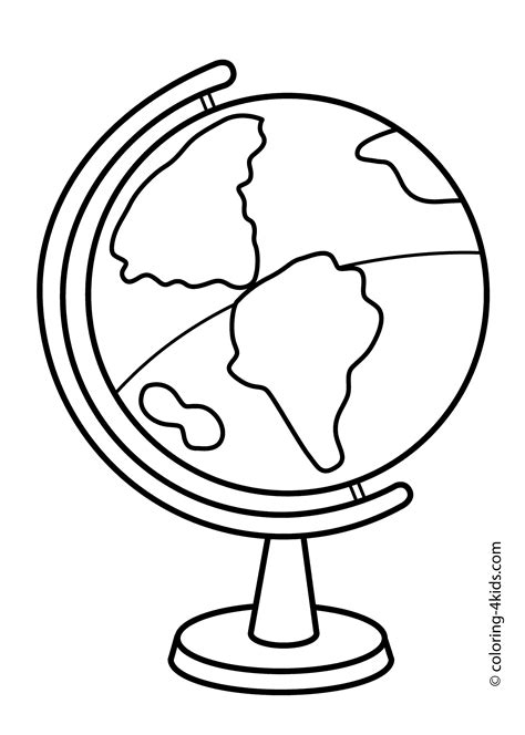 globe coloring pages getcoloringpagescom