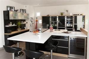 Deco cuisine moderne blanc for Idee deco cuisine avec model de cuisine moderne