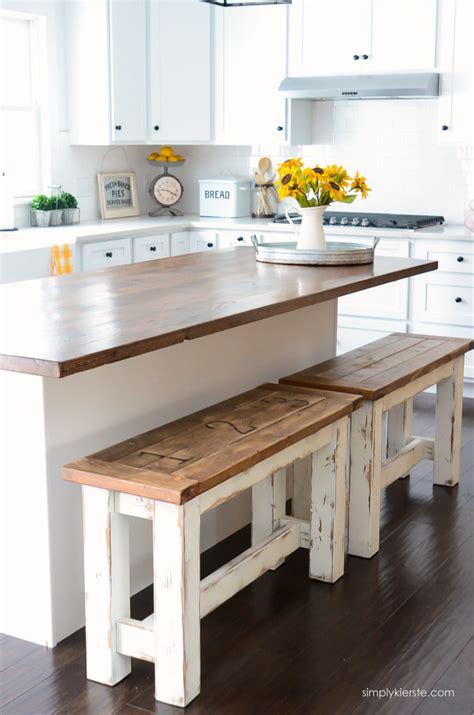 diy kitchen benches simply kierste design
