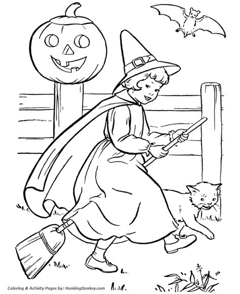 halloween witch coloring pages halloween witch girl