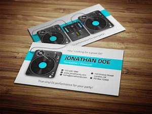 Turntablist dj business card by iamvinyljunkie business for Business cards for djs