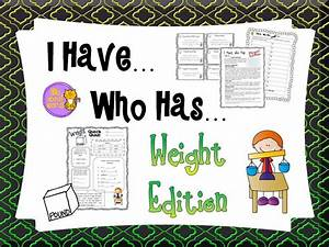 Measurement - Standard Weight - I Have, Who Has Game ...
