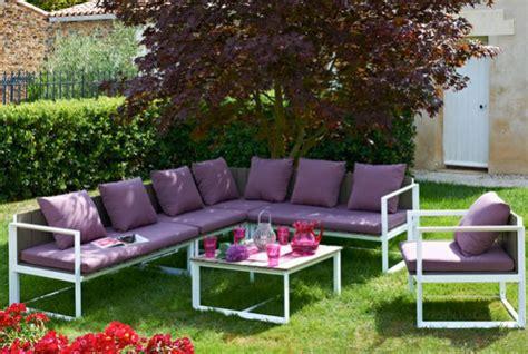 canapé de jardin aluminium mobilier et salon de jardin des modèles déclinables à l