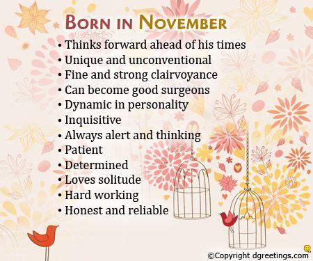 born  november   birth month
