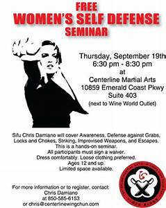 FREE Women's Self Defense Seminar at Centerline Martial ...