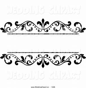 Wedding card borders clip art 78 for Wedding cards black and white clipart