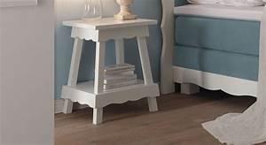 Nachttisch Buche Weiß : romantischer landhaus nachttisch aus buche wei lackiert rana ~ Markanthonyermac.com Haus und Dekorationen