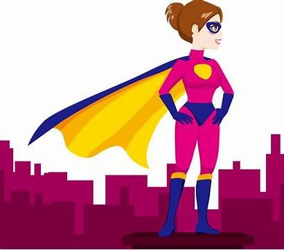 Pink Superheroes Clipart Superhero Transparent Female Clip