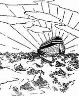 Flood Coloring Ark Designlooter Noahs Great Drawings 731px 98kb sketch template