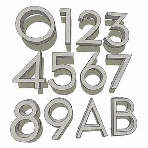 neutra house numbers 3d model formfonts 3d models textures With stainless steel letters and numbers