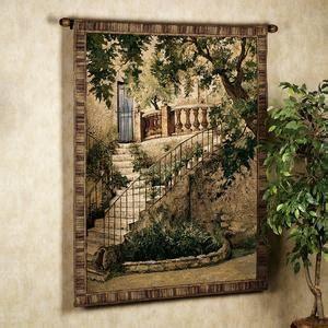 tuscan villa  wall tapestry bathrooms pinterest