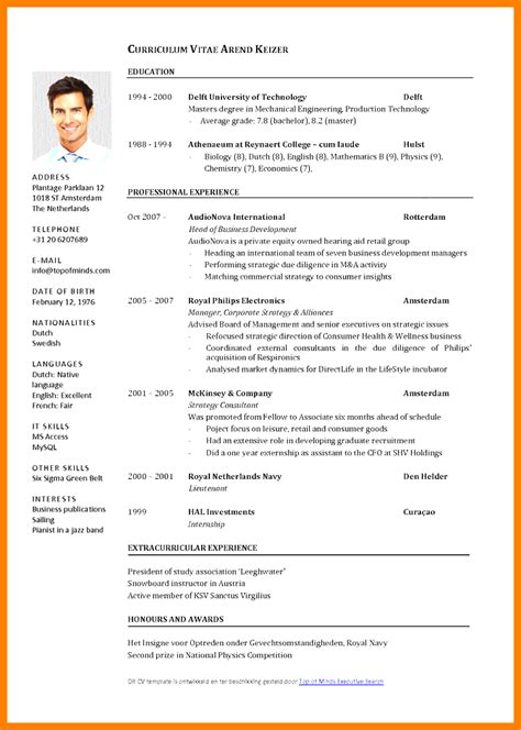 Sle Of A Curriculum Vitae by 6 Curriculum Vitae Theorynpractice