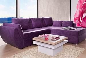 Günstige Sofas Online : wohnzimmer lila gestalten 79 tolle deko ideen ~ Markanthonyermac.com Haus und Dekorationen