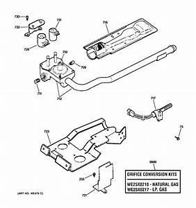 Gas Valve  U0026 Burner Assembly Diagram  U0026 Parts List For Model