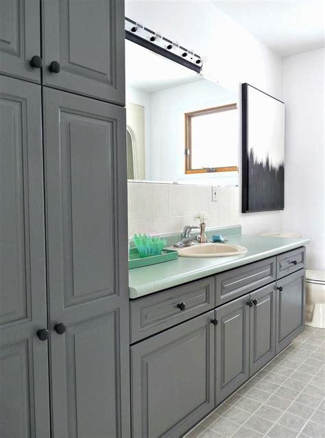 charocoal painted bathroom cabinets rustoleum cabinet