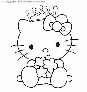Free coloring pages of princess hello kitty