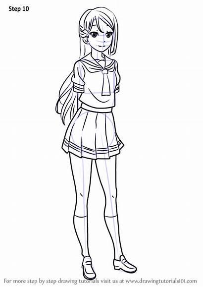 Riko Sunshine Sakurauchi Drawing Draw Step Anime
