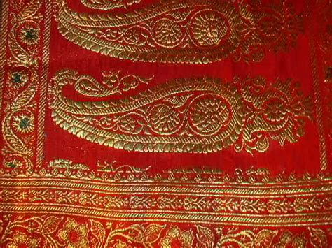 vintage indian double reversible sari red green fine