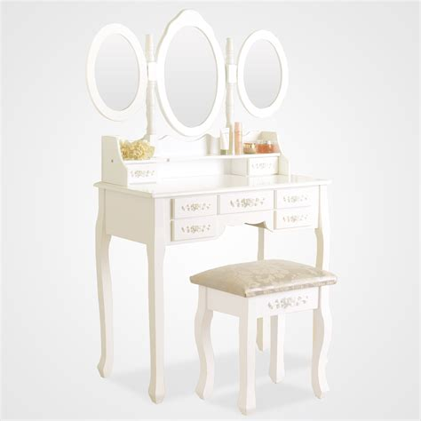 white vanity desk with drawers white dressing table vanity makeup desk with 7 drawers 3