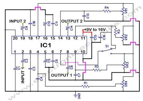 Stereo Tone Controller Circuit Diagram World
